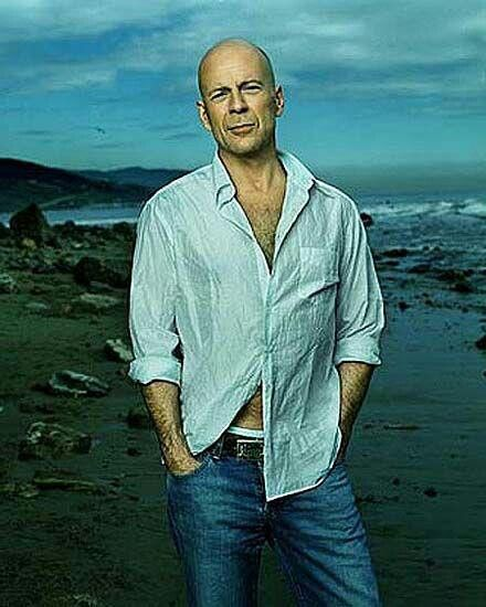 Bruce Willis. If I was ever in a movie I would want Bruce Willis to be my Dad.