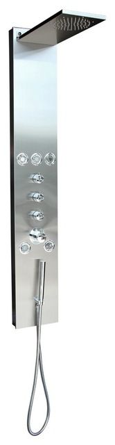 BOANN Rainfall Shower Panel System with Hand Shower & 5 Adjustable Body Jets modern-shower-panels-and-columns