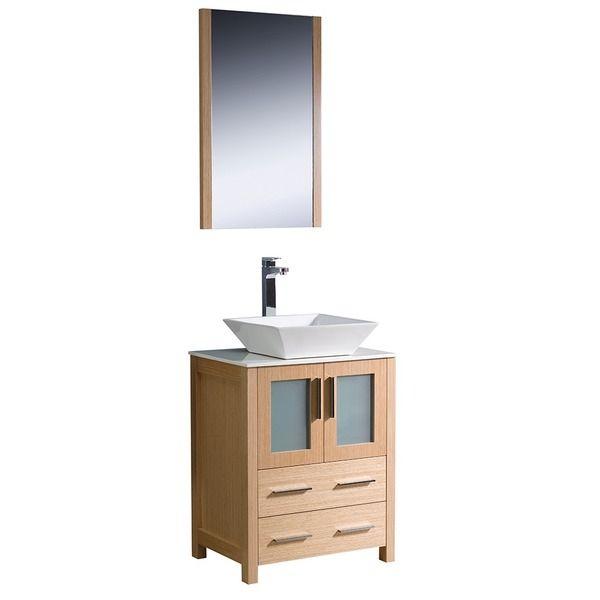 Photography Gallery Sites Fresca Torino inch Light Oak Modern Bathroom Vanity with Vessel Sink