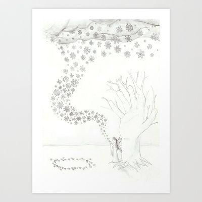 Winter Fairy Art Print by Sheridan van Aken - $22.88