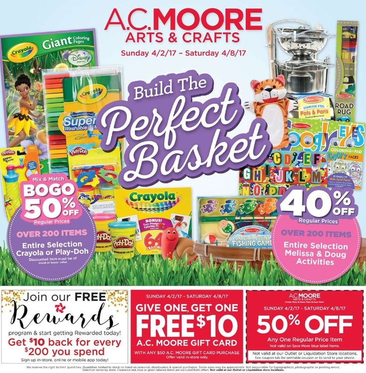 AC Moore Weekly Ad April 2 - 8, 2017 - http://www.olcatalog.com/home-garden/ac-moore-weekly-ad.html