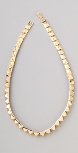Noir Jewelry Pyramid Stud Necklace #pyramidstuds #studs #studded
