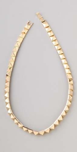 Noir Jewelry Pyramid Stud necklace gold rings