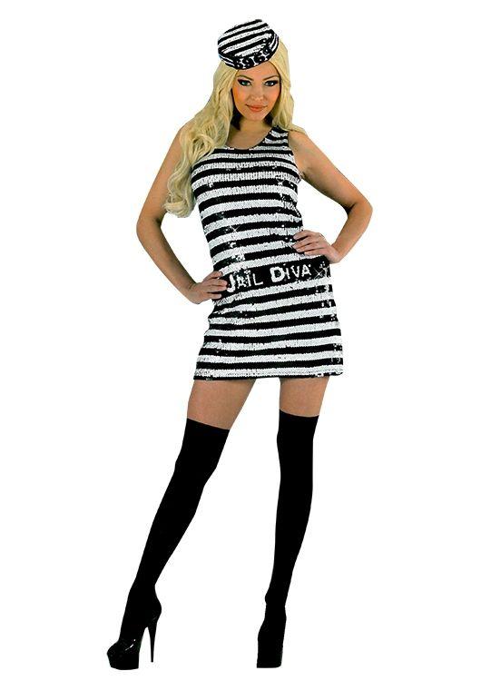 Seksowny, błyszczący strój więźniarki z pewnością zwróci na Was uwagę i doskonale nadaje się na przebierany wieczór panieński