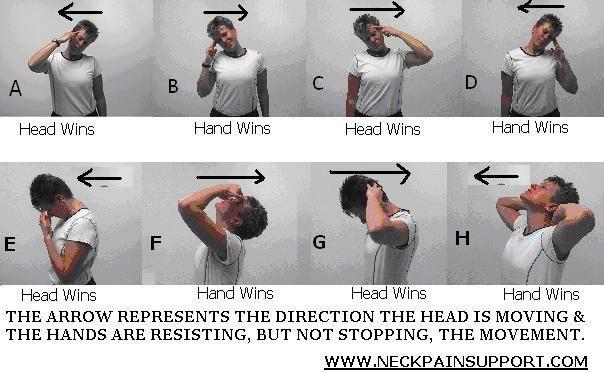 "Neck Exercises   Neck Stretches   Neck Strengthening Exercise... Hopefully this will help my ""military"" neck"