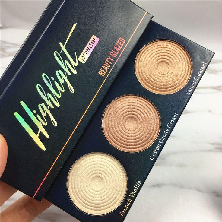 2017 beauty glazed Brand Manizer Bronzers Balm Palette highlighter shimmer Eyeshadow Powder Mary Betty Cindy lou 3 IN 1 pallete