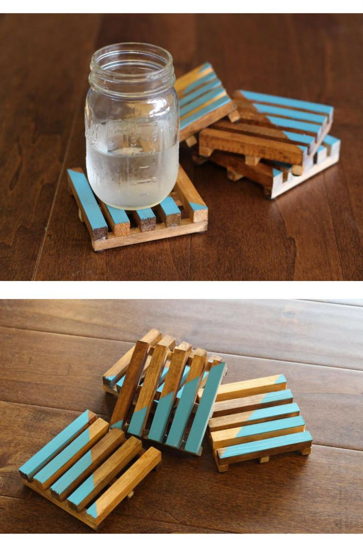 DIY drink coasters ToolBox Divas | Home Improvement Blog Wooden pallet coasters ...