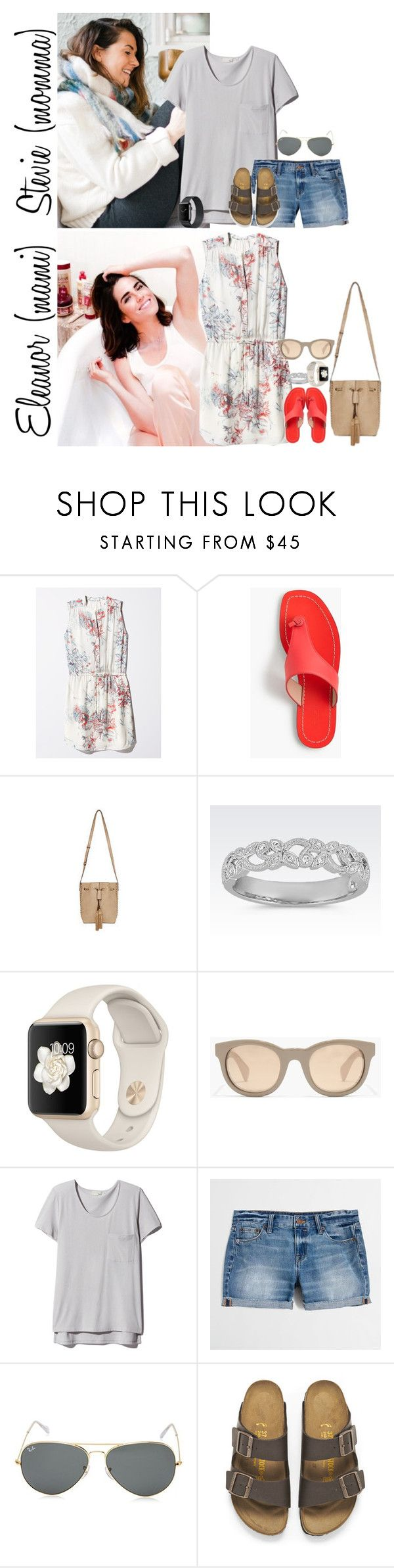 """""""Monday // Sam's Cast Comes Off, Park & Activities // 6.26.17"""" by graywolf145 ❤ liked on Polyvore featuring J.Crew, Ray-Ban, Birkenstock and StevieandEleanor"""
