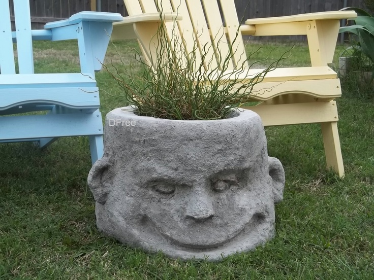 407 Best Images About Stone Head Planters On Pinterest