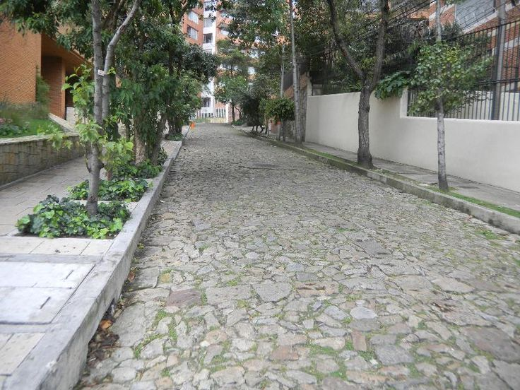 Cobblestone street in Bogota. I was fascinated when my parents told me it was built  by the Indians (little realizing as a kid, that they were virtually slaves of the conquistadores).
