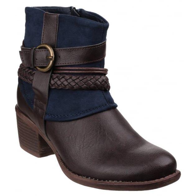 Divaz Damen Pisa Ankle-Boots (37 EU) (Marineblau) UUSW7KN7
