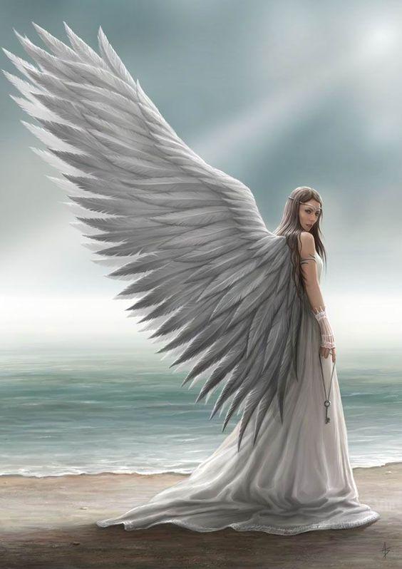 Открытка девушки с крыльями, месяцев малышке