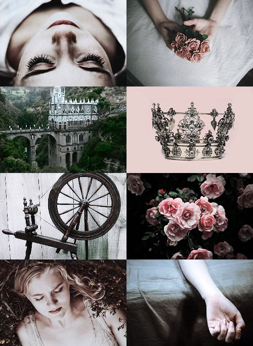 "houseborgia: ""FAIRY TALES MEME  » LITTLE BRIAR-ROSE (SLEEPING BEAUTY) by The Brothers Grimm ""A LONG TIME AGO,  the Queen had a little girl who was so pretty that the King could not contain himself for..."
