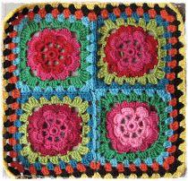 Oppskrift på heklet Bestemors-rose