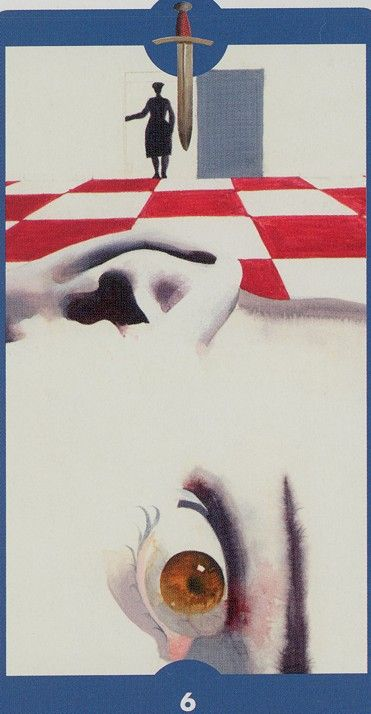 Six of Swords  - Tarot of the Imagination by Ferenc Pinter
