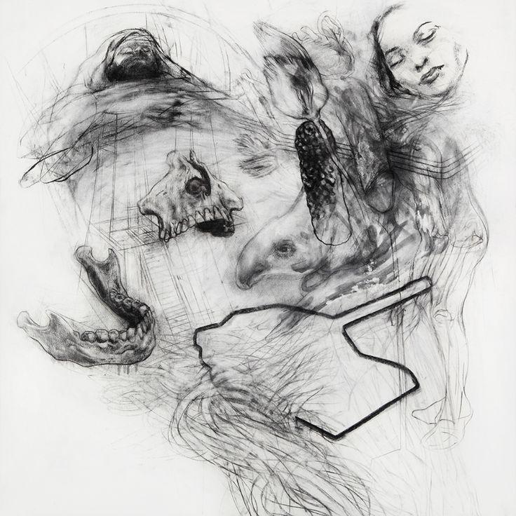 Marko Velk - Entre-Doux (charcoal on paper)