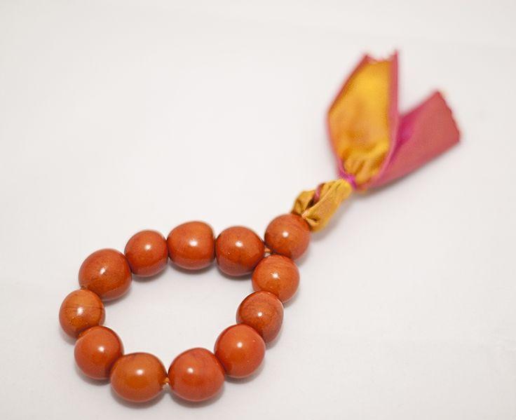 PLAYA Bracelet - Orange Chicon Nuts with Silk