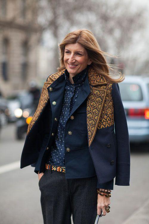 Sarah Rutson can layer like a pro. Paris Street Style Fall 2013 - Paris Fashion Week Style Fall 2013 - Harper's BAZAAR