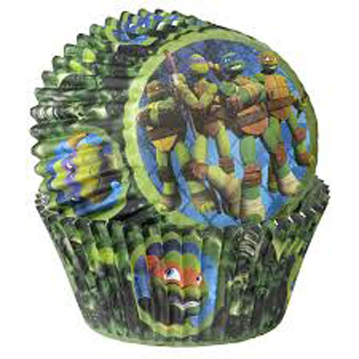 Cupcake Cups - Licensed Ninja Turtles TMNT Baking Liners
