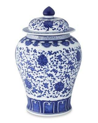 Blue  White Ginger Jar Lidded Urn, 16 #WilliamsSonoma