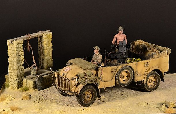 Dioramas and Vignettes: Steyr 1500A with 20mm AA gun