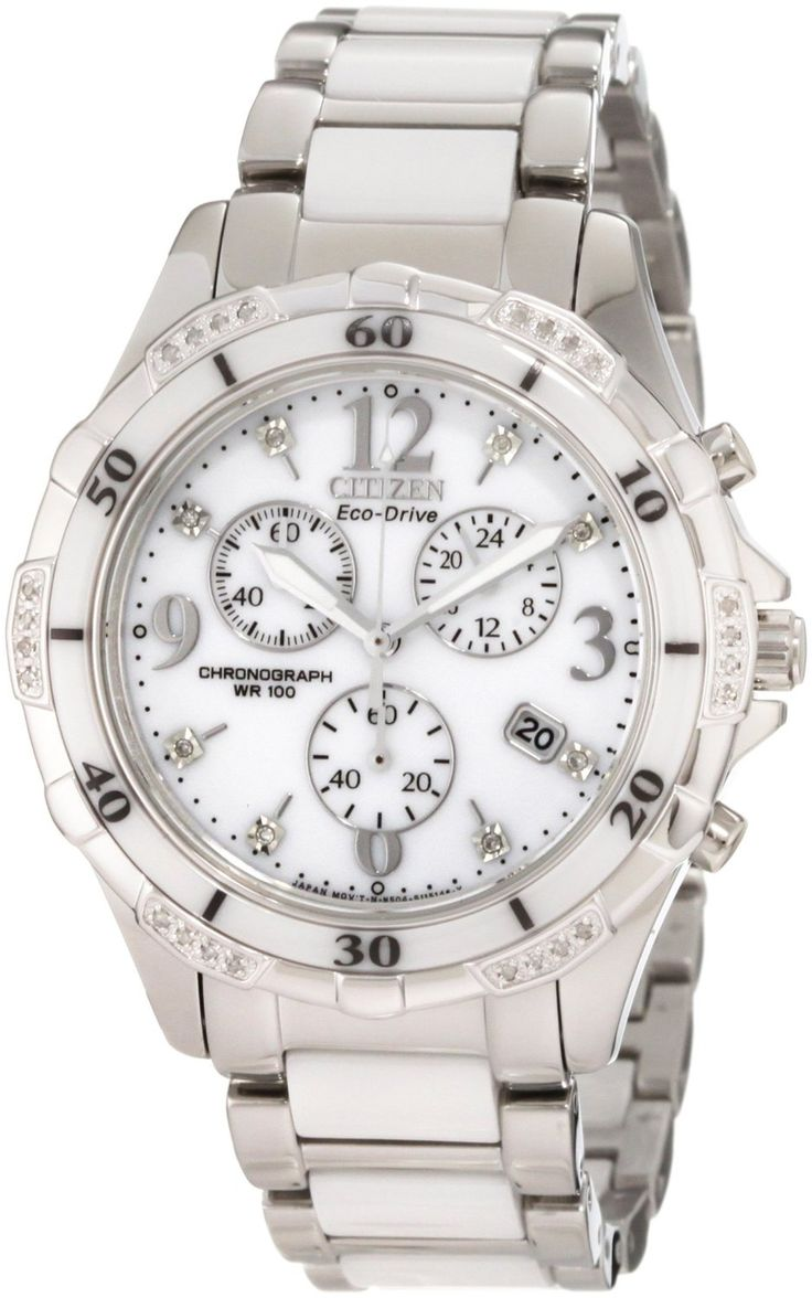 Citizen Women's FB1230-50A Eco Drive White Ceramic Diamond Watch [FB1230-50A] - $521.25 : Shopping Jewelry Store, Silver and White Gold, Citizen Watches, Invicta Watches, Zable Beads, Heart Diamonds, Italian Jewelry.