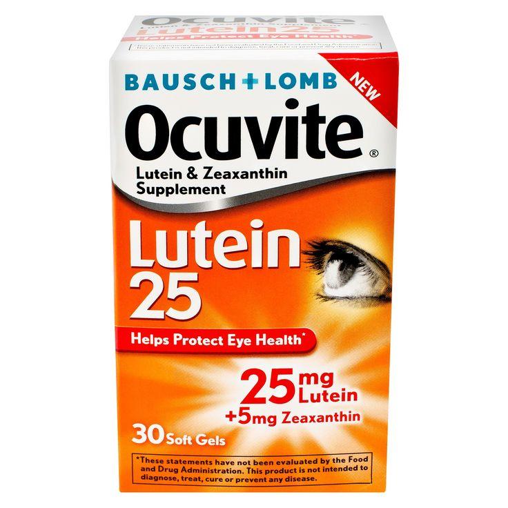 Bausch & Lomb Ocuvite Lutein 25 Eye Vitamin Soft Gels - 30ct