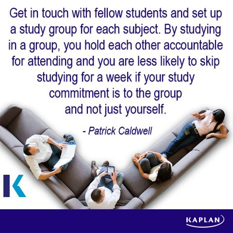 Study tip - Study groups.