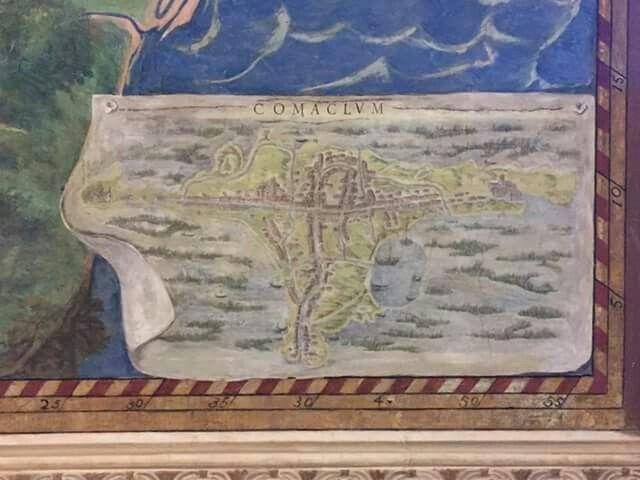 Roma - Musei Vaticani, Galleria delle Carte Geografiche... c'è anche Comaclum!