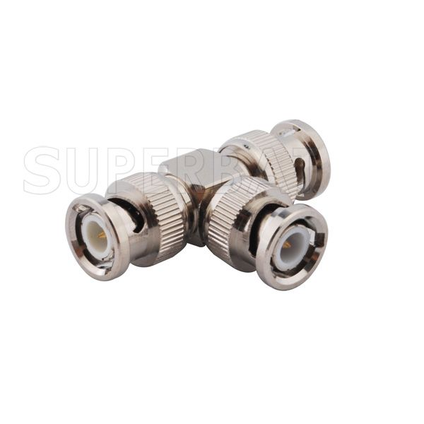 """>> Click to Buy << Superbat RF Coaxial Connectors BNC adapter plug to 2 double BNC plug male """"T"""" type RF coaxial connector nickel #Affiliate"""