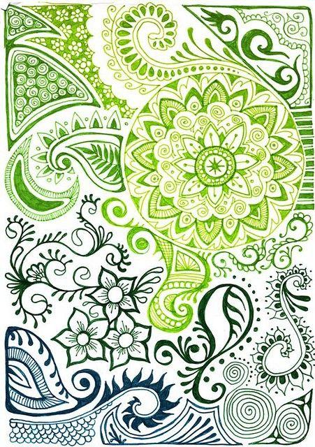 Beautiful Zentangle print, it would make a great fabric!!!