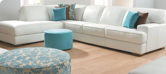Tv Room Plush Sofas Jindalee Have A Cream Leather Modular