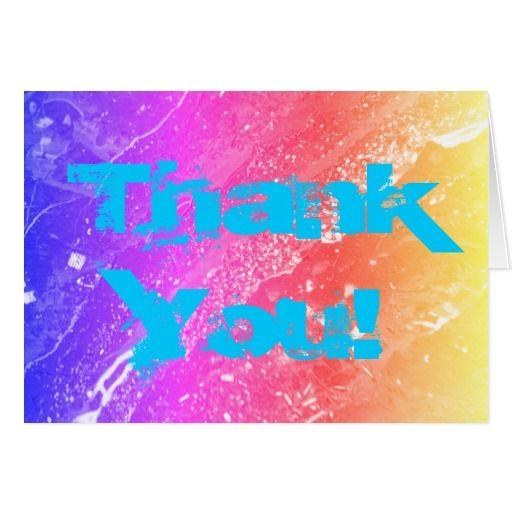 Rainbow Marble Photo Thank You! Card