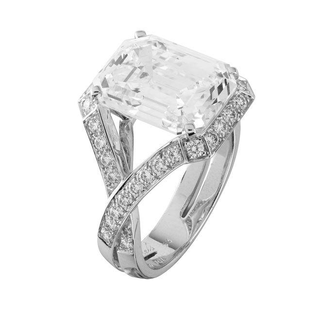 large engagement rings emerald cut engagement