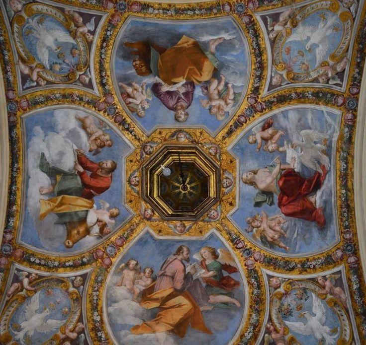 1. Gaspare Venturini (qui attribuito) e Giulio Marescotti, I quattro Evangelisti, Ferrara, castello Estense, cappellina