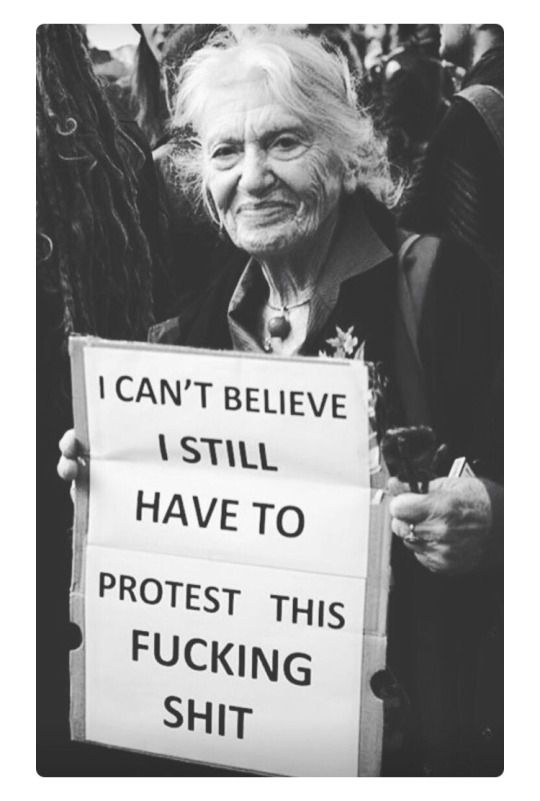Women's March? -- am protesting the world for 10 years i agree with ur sign! LAUGHING RED!