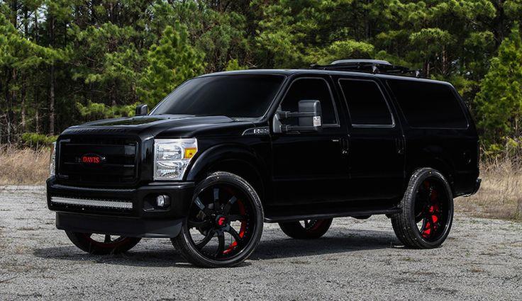 Ford Excursion on Forgiato wheels