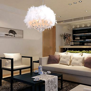 Max 60W Modern/Contemporary / Drum Crystal / Mini Style Electroplated Pendant Lights Living Room / Bedroom / Kids Room – EUR € 111.12
