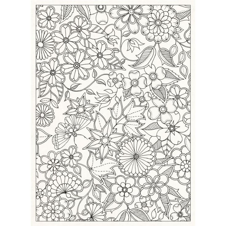 Floral Print Free Printable Adult Coloring Pages