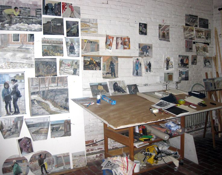 Artist Steve Lopes' studio during his Red Gate Residency in Bei Gao, Beijing