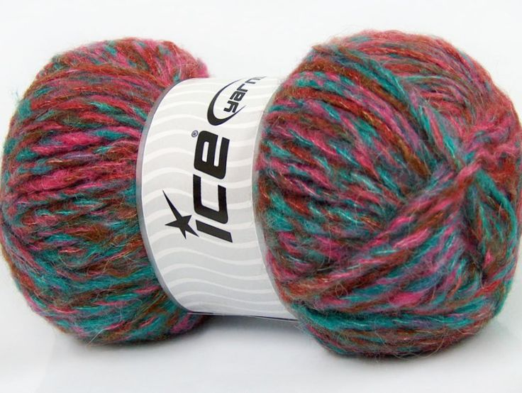 Composition 43% Acrylique 27% Polyamide 15% Mohair 15% Laine Turquoise Pink Brand ICE Copper fnt2-41170