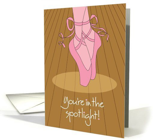 Good Luck for Dance Performance with Ballet Shoes card (960671) by Teri Nelson Kuster
