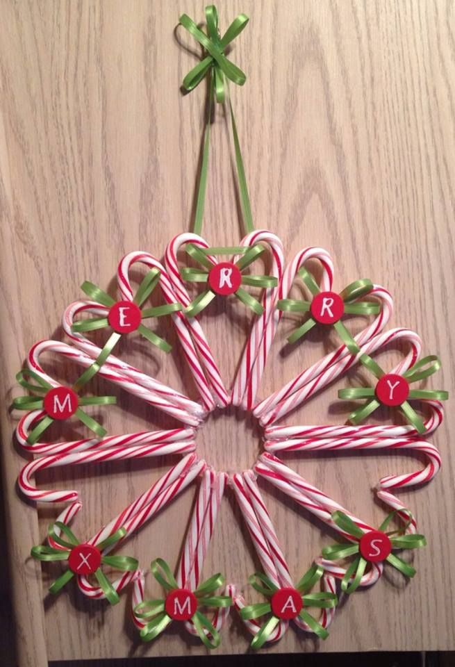 25 best ideas about candy canes on pinterest candy cane for Alphabet christmas wreath