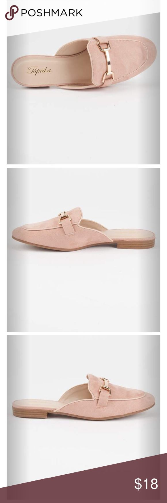 PAPRIKA Solid Womens Mule Loafers (Mauve) Super cute loafers! It's new with tags and box! True to size! Paprika Shoes Flats & Loafers