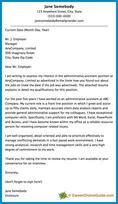a cover letter sample