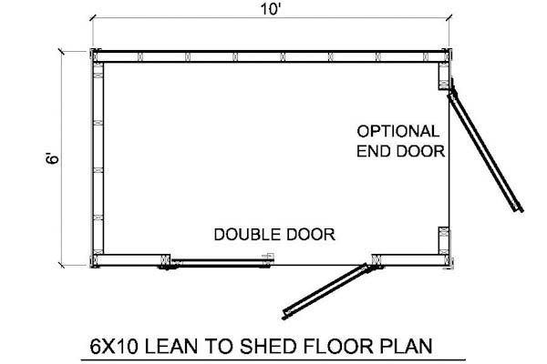 6x10 lean to shed floor plan home build board Lean to dog house plans