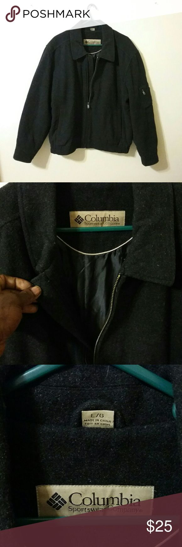 Columbia Sportswear Company Jacket W/Pocket L/G This is a Vintage piece for sure it has shoulder padding for extra comfort.Rare with now a days Columbia Jackets with a side arm zipper pocket inner lining and heavy for those cold mornings or days.This item is is Great condition with no stains,nor rips bless you all thanks for stopping by.Please follow as I have a monthly 50% off day and have a monthly Give-A-Way to where you could win a high priced item for free just pay shipping.Sharing a…