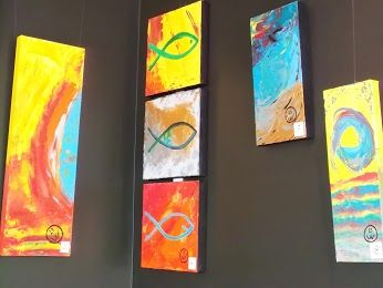 The other artist exhibiting at present is Kynan Weeks, whose artworks are in the rear gallery