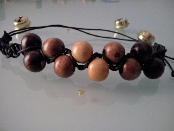 2row Beaded Macrame Shambala Style Bracelet by BittersweetTrinkets