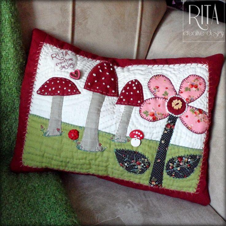 RITA creative design: Poszewka na poduszkę quilt.